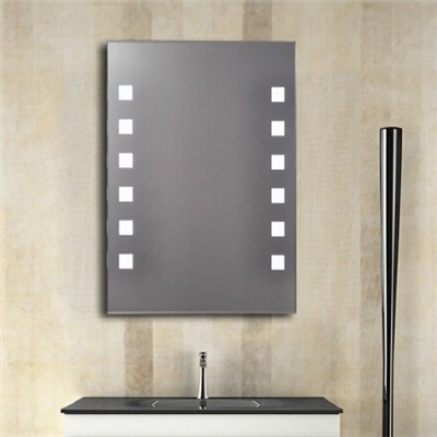 Aluminium Bathroom LED Light Mirror (GS058)