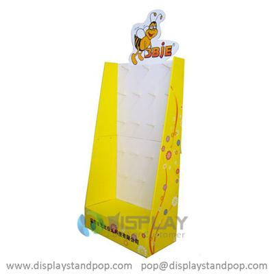 JC Customized Point Of Purchase Cardboard Displays with Peg Hooks, Toy POP Displays