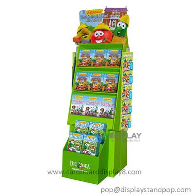 2015 New Products Cartoon cardboard Book Display Shelf