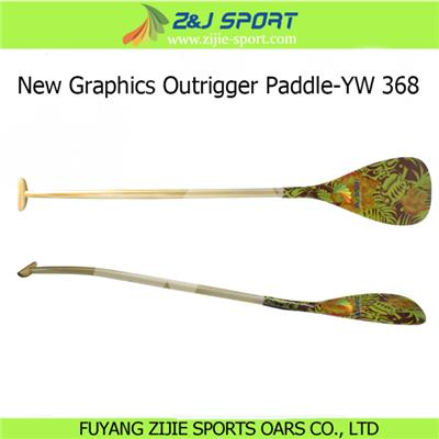 New Graphics Outrigger Canoe Paddle-YW 368