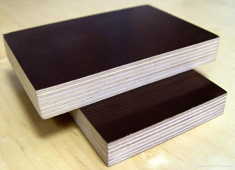 one time hot press brown with logo Film Faced Plywood /cheaper Film Faced Plywood / plywood for building construction