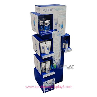 Super Market Retail Paper Display Shelf For Shampoo