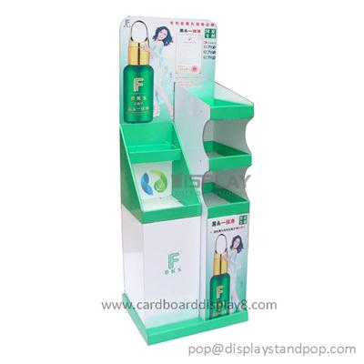Advertising Greeting Card Cardboard POP Display For Cosmetics