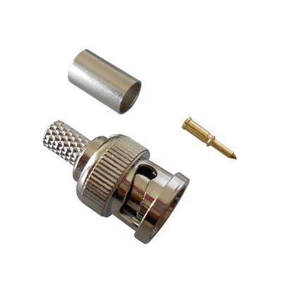 Crimp On Male CCTV BNC Connector For Coaxial Cable (CT5045)
