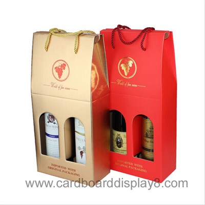 High Quality Customized Paper Wine Box With Handle