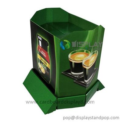 Custom Corrugated Cardboard Advertising Pallet Display For Coffee