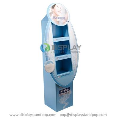 Customized Full Printed Cardboard Floor Stand for Nivea Cleansers Promotion