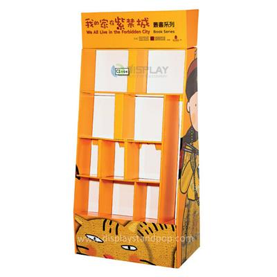 Cardboard Advertising Book Display Stand, Hot Sale Cardboard Book Display Stands