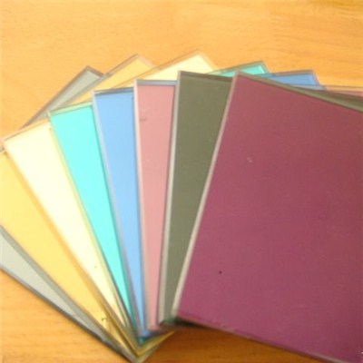 Colored Float Glass Pieces Bronze