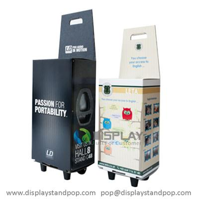 Factory Professional Customized Cardboard Trolley Box For Exhibition