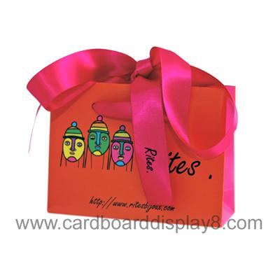 Fancy Full Print 6 Colors Paper Bag Design For Company Stuff Packaging