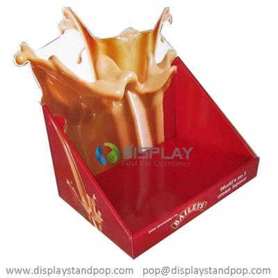 Hot Sales Corrugated Cardboard Counter Display Units For Chocolate