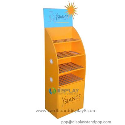 Four Shelves Free Standing POS Display Stands For Cosmetics