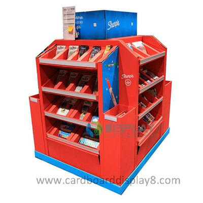 Stationery Cardboard Displays, Pallet Display Stands for Stationery Promotion