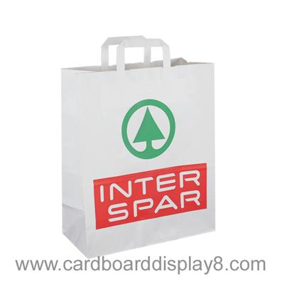 High Quality Custom Made White Kraft Paper Bag