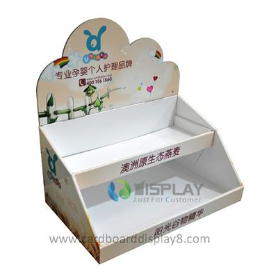 Offset Printed 2 Tiered Counter Display Unit for Medicine Display