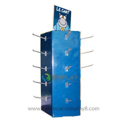 Hot Sell Floor Standing Paper Hook Display