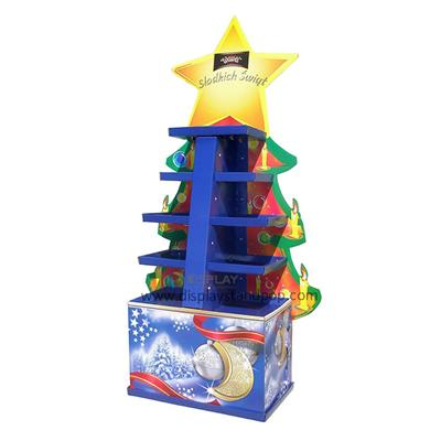 Christmas Gifts Promotional Corrugated Cardboard Floor Display Units