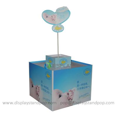 Supermarket Pallet Display, Point of Purchase Cardboard Display for Baby Products Promotion