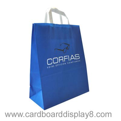 Customized Printing Full Color Cheap Kraft Paper Shopping Bag