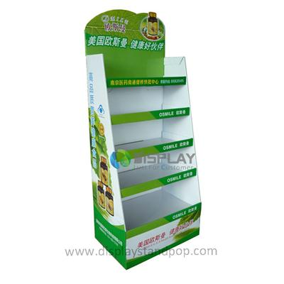 Floor Retail 5 Tier Cardboard Medicine Display Shelf