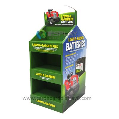 High Quality Custom Designed Promotional Cardboard Retail Displays for Battery, Battery POP Displays