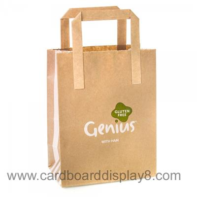 Printed Customized New Design Brown Craft Paper Bag