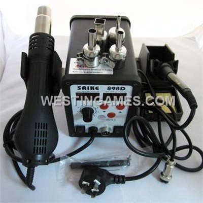 SAIKE 898D 2 In 1 SMD Rework Soldering Station Hot Air Gun & Soldering Iron Lead-Free Repairing