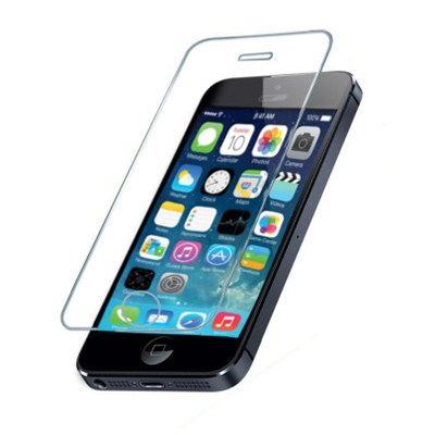 iPhone 5S Clear Gold Tempered Glass Screen Protector