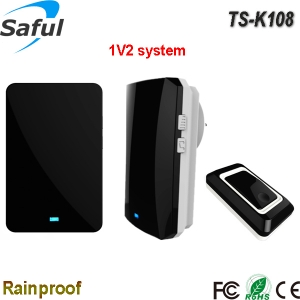 saful TS-K108 1V2 wireless dingdong doorbell with two indoor unit
