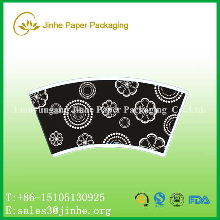 PE coated paper fan/sleeve for paper cups