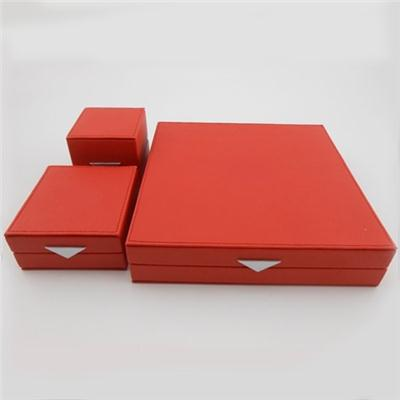 Three Pcs Jewelry Leather Box Set