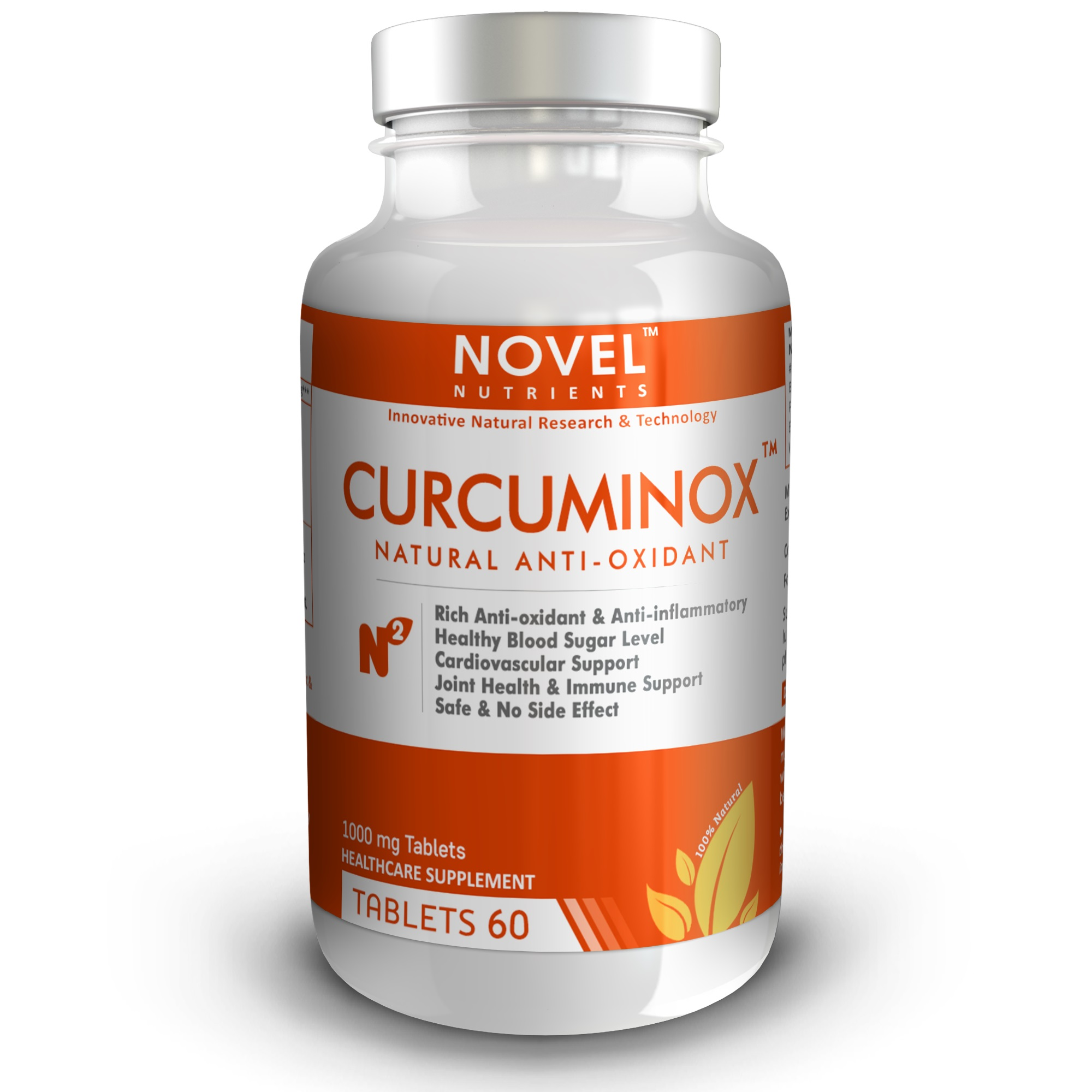 CURCUMINOX - TM 1000 MG 60 TABLETS - NATURAL ANTIOXIDANT