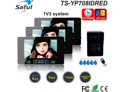 Saful TS-YP708IDREC 7 Video Door Phone With RFID Card And Recording Function