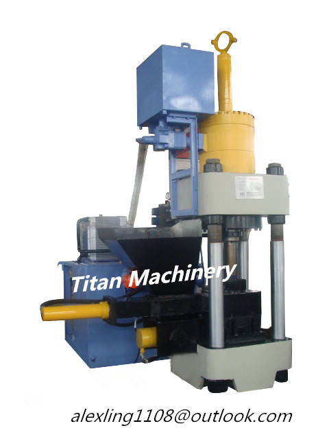 (Titan)Y83-2500 hydraulic metal scrap briquetting press machine