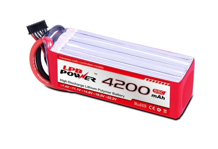 LPB 4200mAh 22.2V 55C Airplane Battery