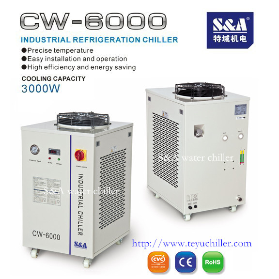 Industrial chiller CW-6000 for cooling CNC router