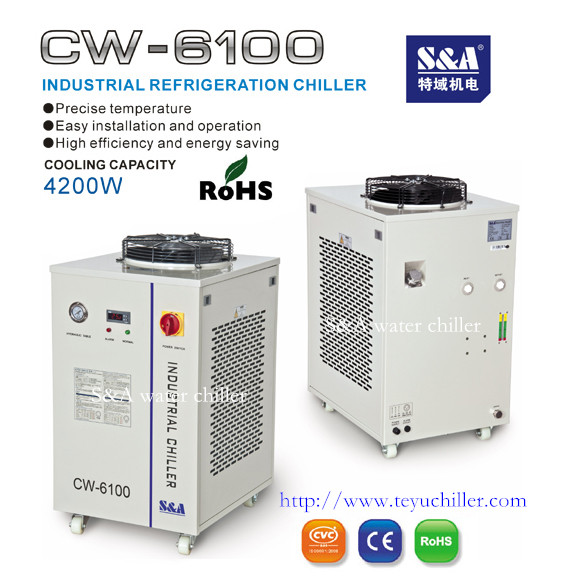 air cooled water chiller unit S&A brand CW-6100