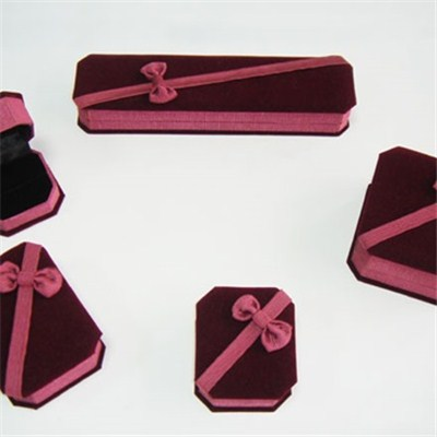 Five Pcs Velvet Jewelry Box Set