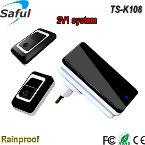 Saful TS-K108 2V1 wireless dingdong bell with 2 outdoor unite