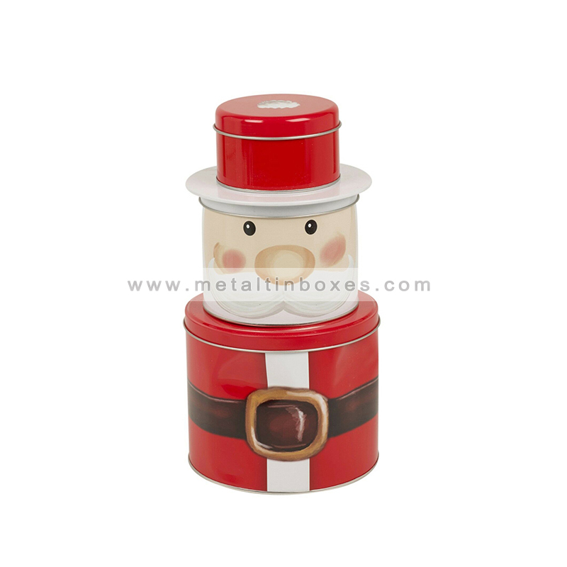 Christmas snowman tins santa christmas gift tin can packaging