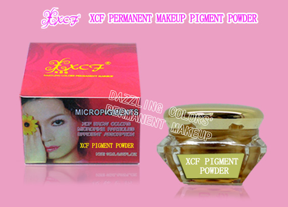 XCF permanent makeup pigment powder/permanent cosmetic products/eyebrow pigment/PMU machine NAME:XCF PERMANENT MAKEUP PIGMENT POWDER VOLUME:10ML   0.35FL.OZ     PRICE:200CNY INTRODUCTIONS: DAZZLING CO