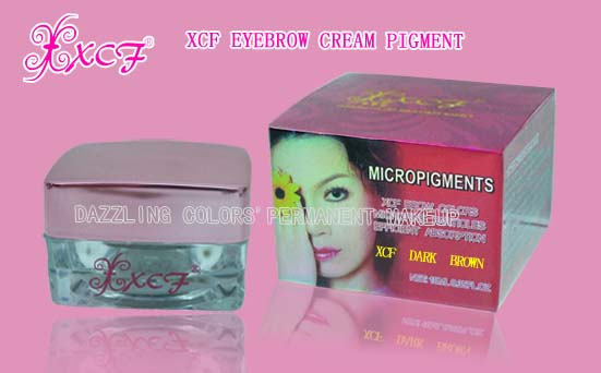 XCF eyebrow cream pigments/tattooing pigments/good quality products/PUM machine