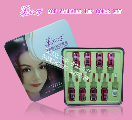 XCF valuable lip color kit/permanent makeup lip colors/lip tattooing products/dazzing colors'