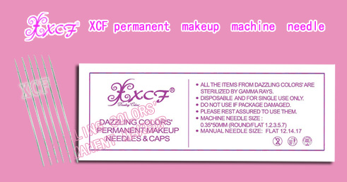 round 3 needle/XCF permanent makeuq machine/lip&eyebrow-tattooing needle/professional needle product/dazzling colors'