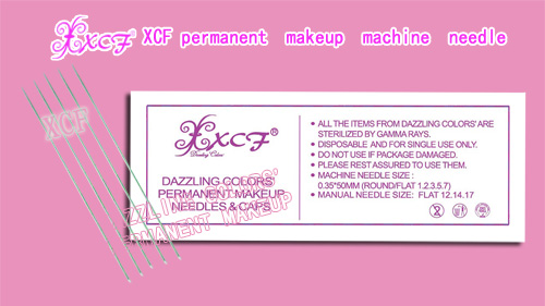 XCF permanent makeup machine needle/0.50*50MM single needle/professional tattooing products/dazzling colors'