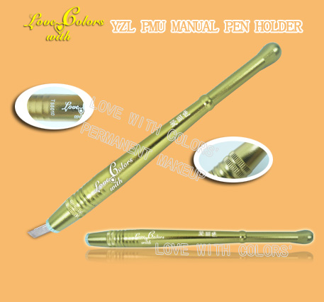 YZL PMU manual pen/handpiece/ curved needle/dazzling colors'