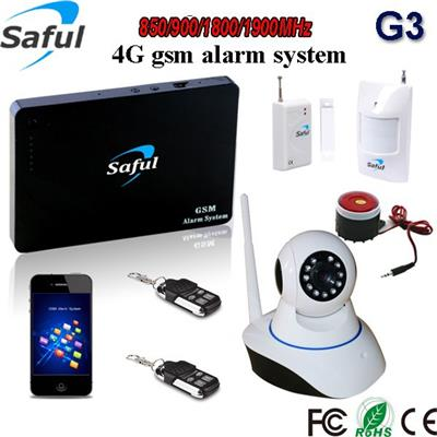 Saful G3 gsm wireless alarm with wifi IP camera