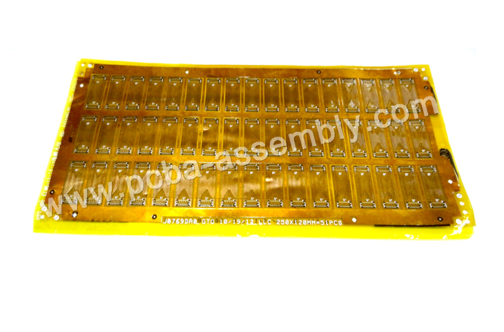double sided pcb board Single And Double Sided Polyimide 0.1mm Flexible PCB