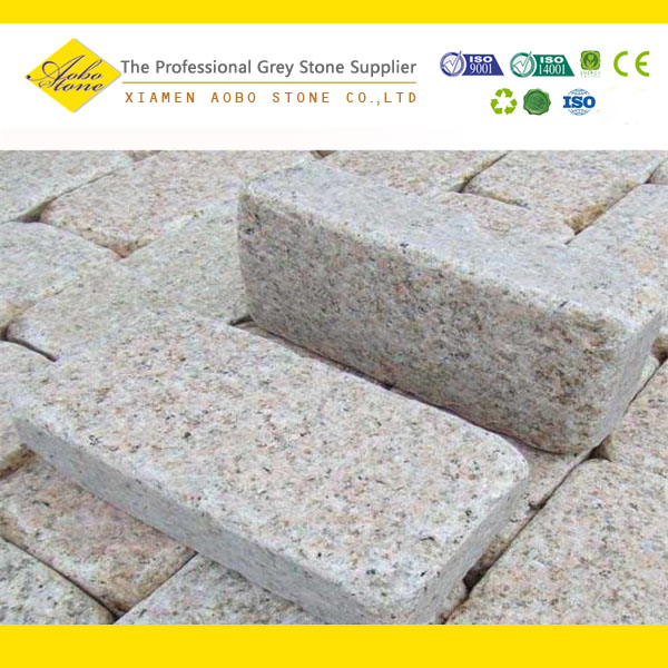 Hot china products yellow granite wholesale paving stone